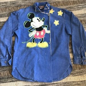 Vintage Mickey Mouse Shirt/Jacket Medium